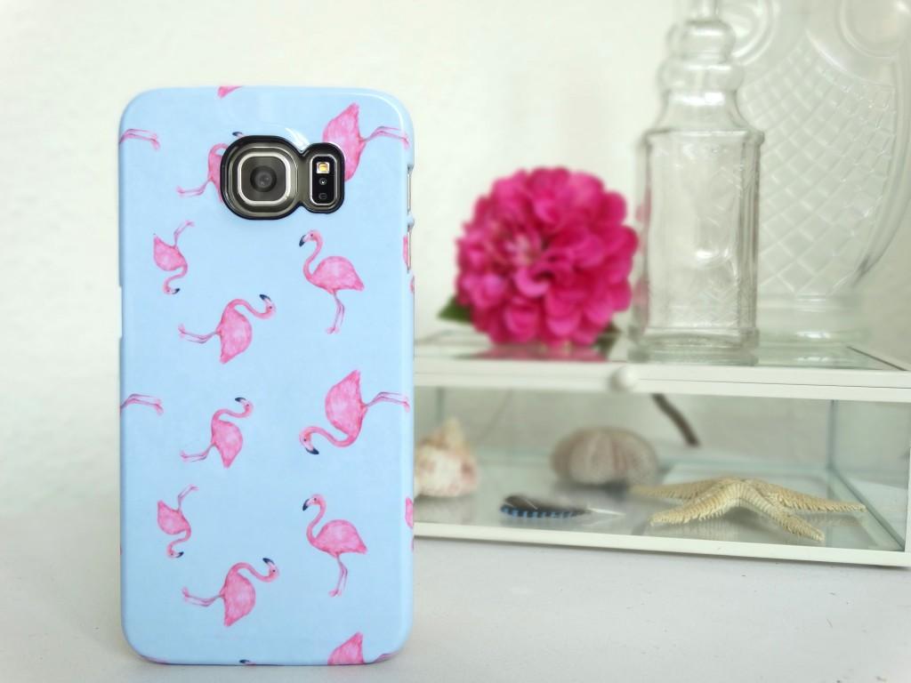 blue flamingo samsung s6 hoes smartphonehoesjes