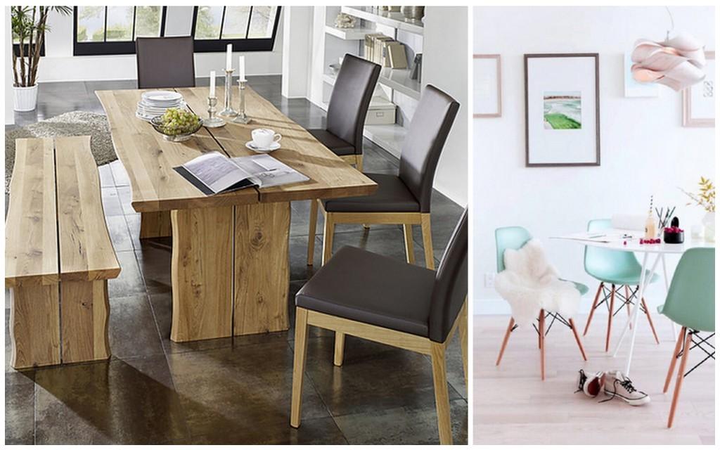 houten natuur tafel design stoelen