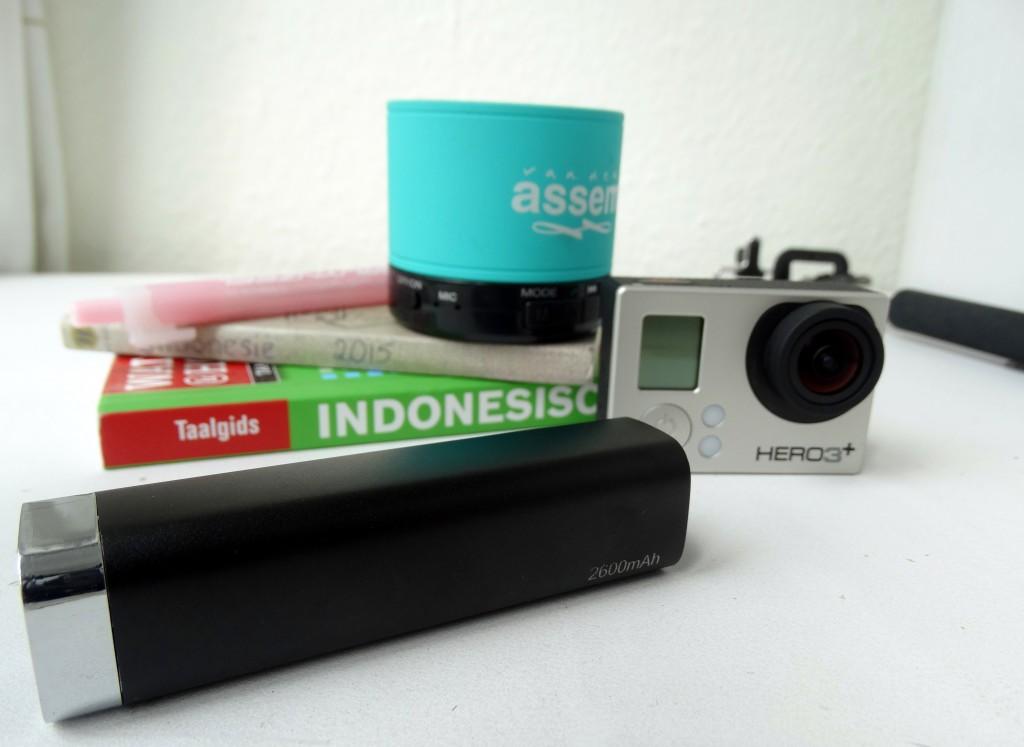 powerbank go pro  gadgets reizen