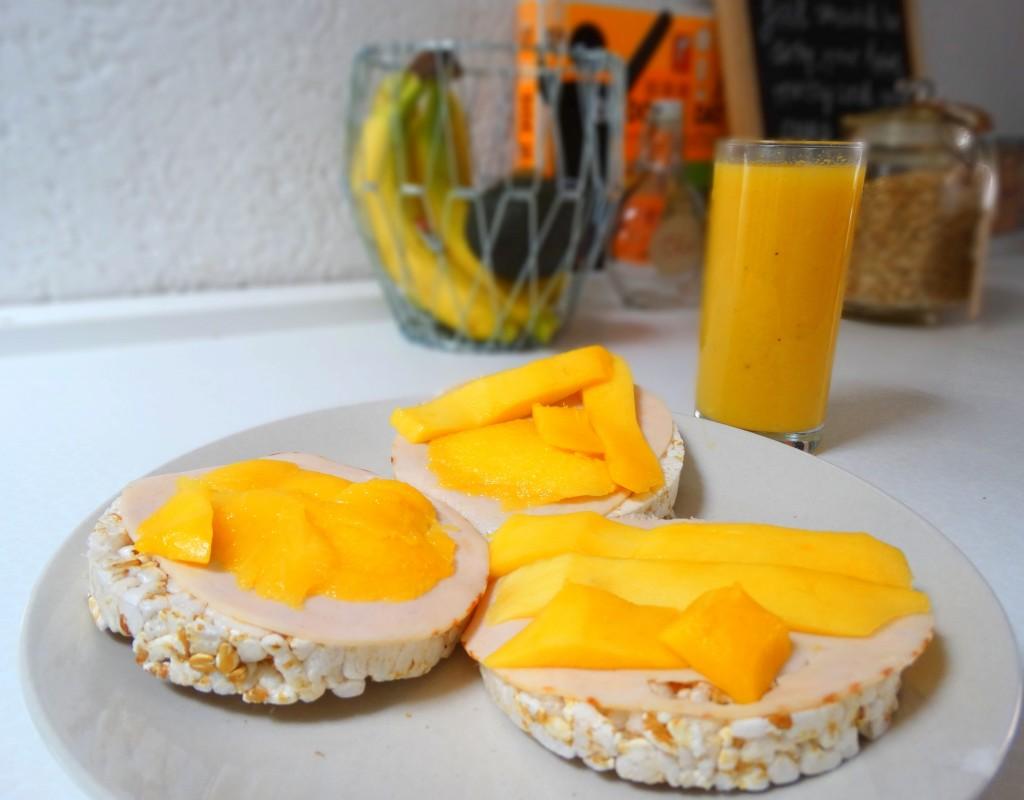 rijstwafel kipfilet mango