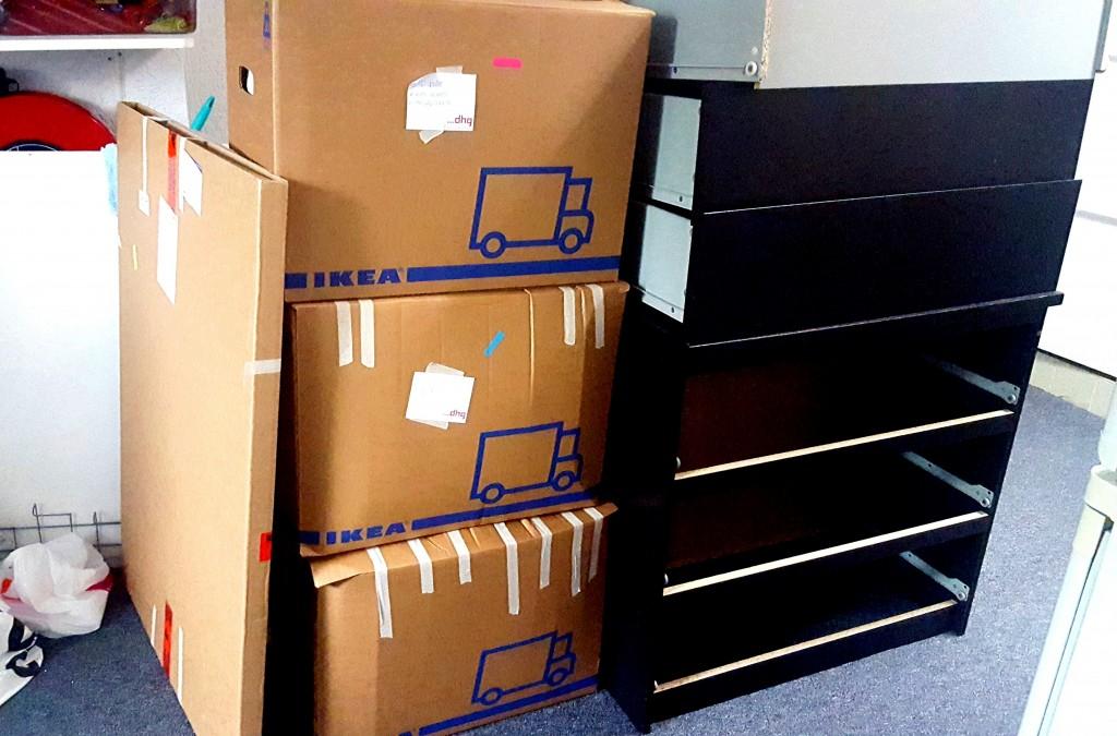 verhuizen Ikea dozen