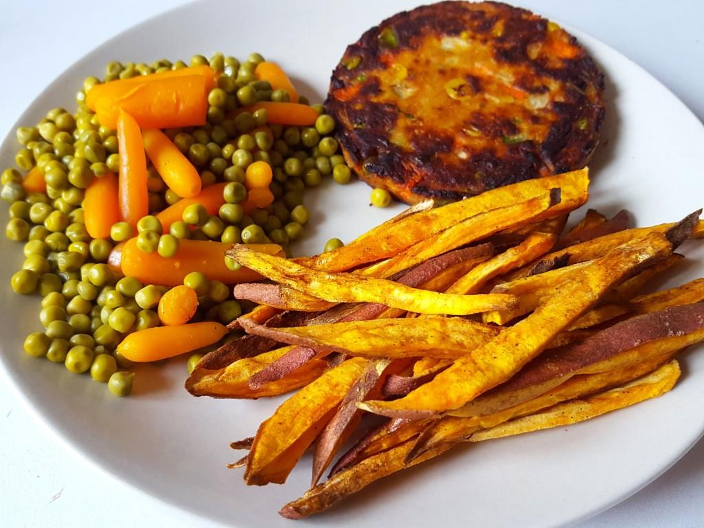 zoete aardappel groente burger