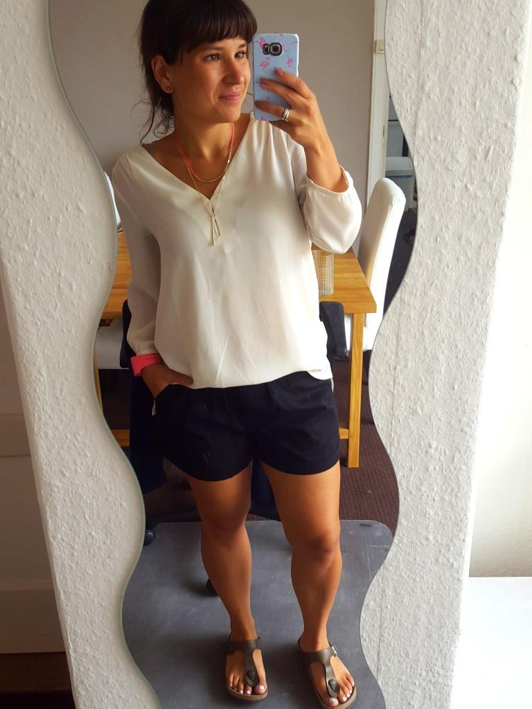 OOTD blouse en korte broek  HM