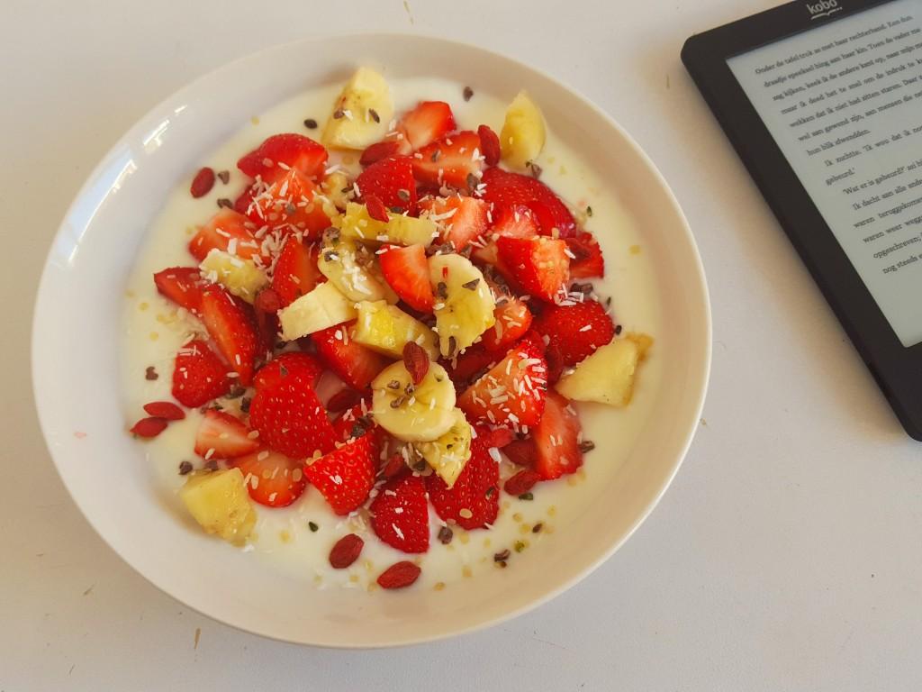 aardbeien ontbijt kobo ereader