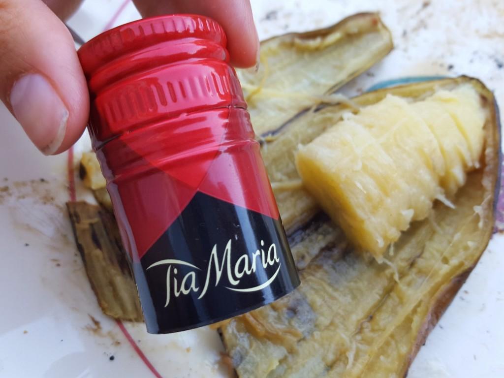 banaan op bbq met tia maria