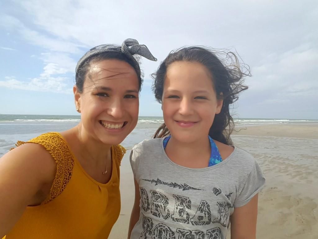 hoek van Holland strand met Kyra