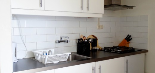 nieuwe keuken aanrecht