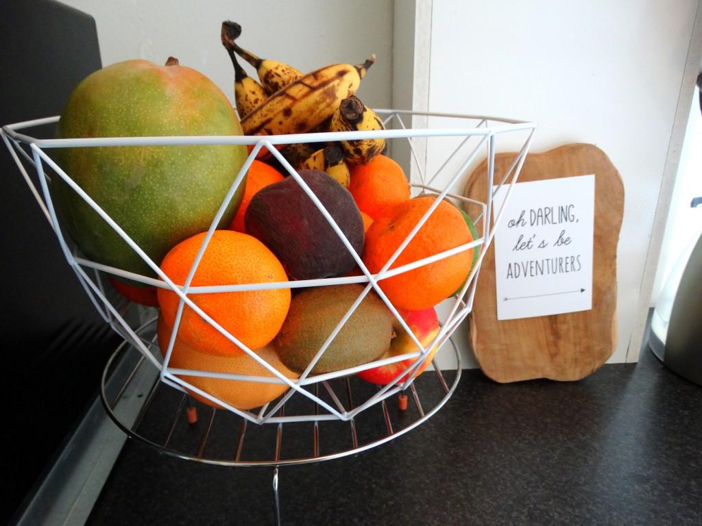 nieuwe keuken fruitmand