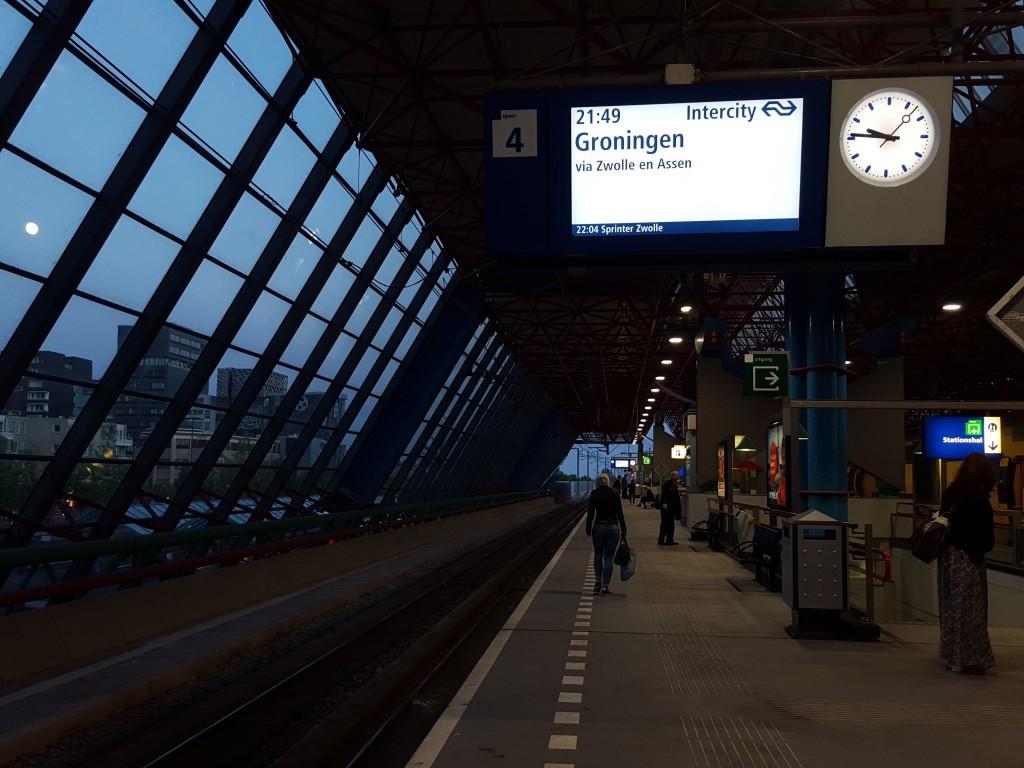 overstap lelystad trein naar Groningen