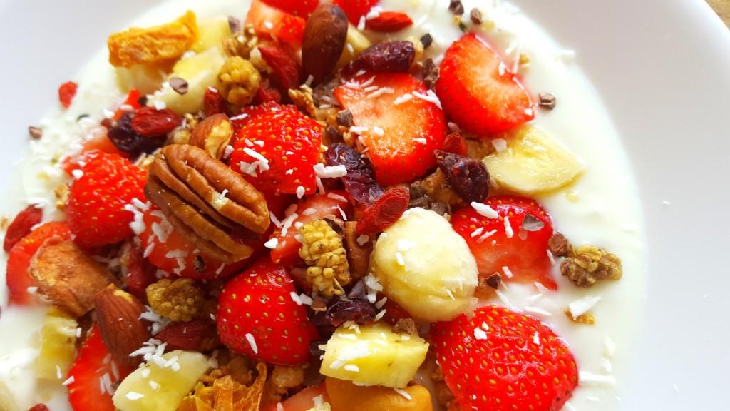 gezond eten yoghurt fruit