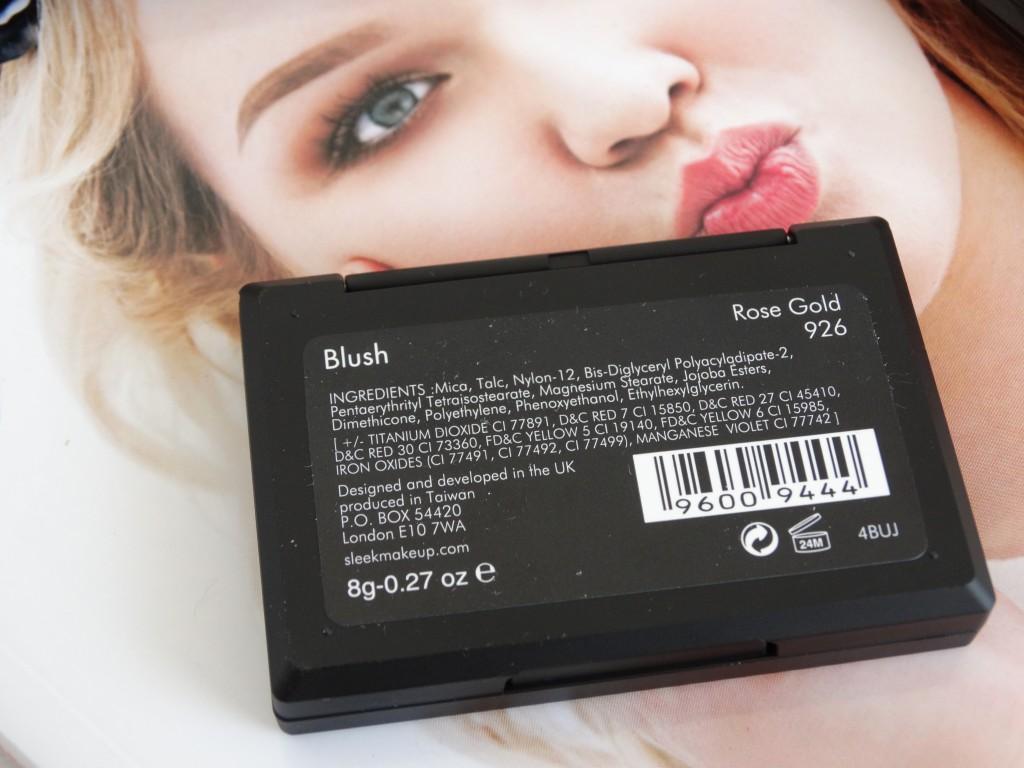 sleek blush rose gold ingredienten