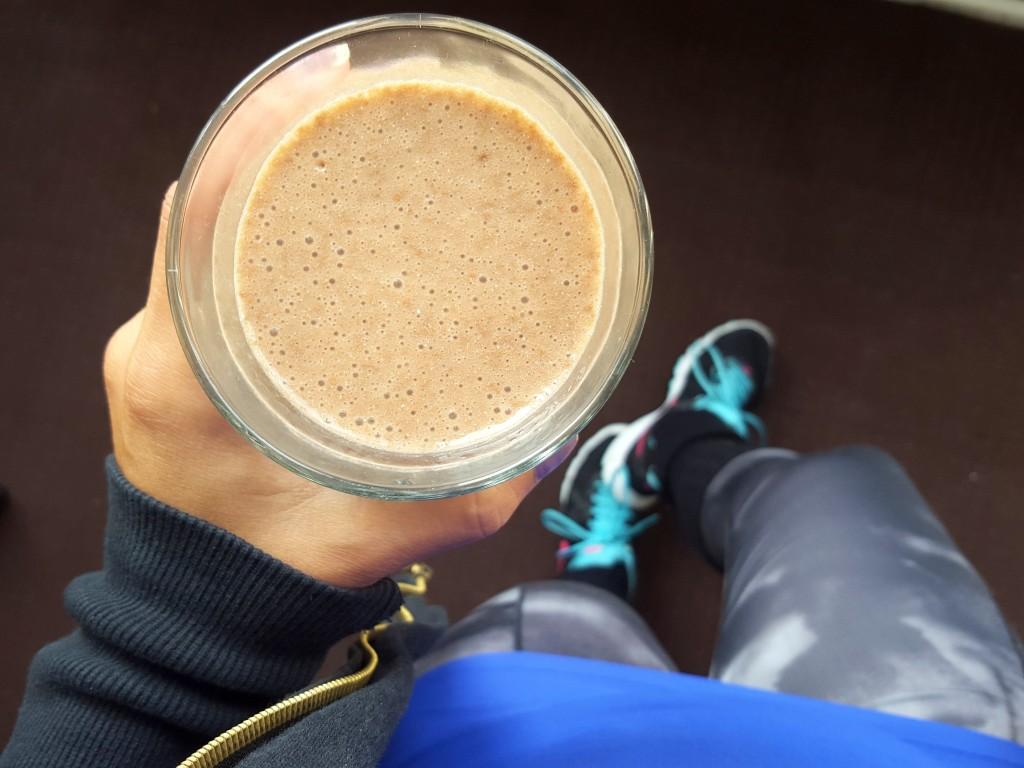chocolade shake voor sporten