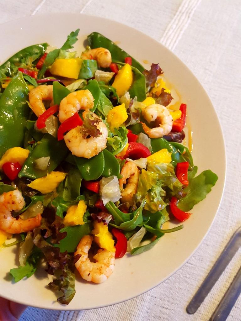mango garnalen salade