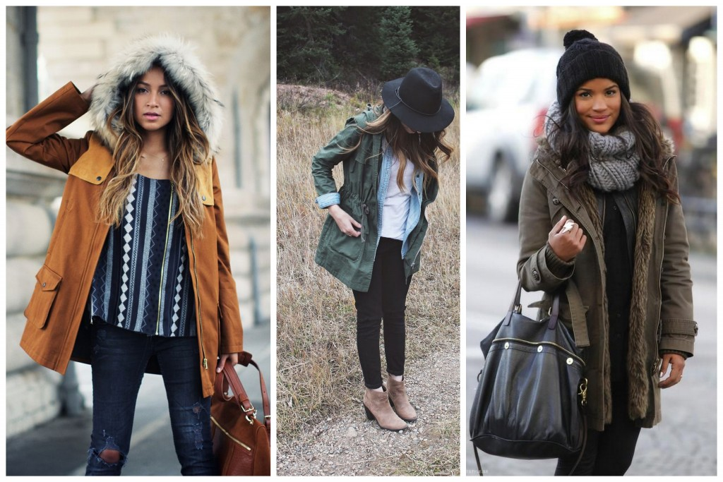 parka fashion casual look