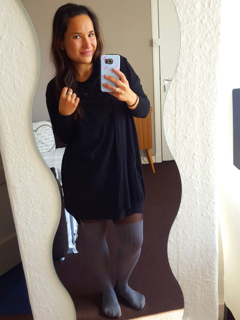 OOTD vest Primark, jurk Lefties, panty hm