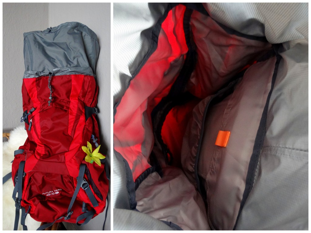 binnenkant backpack deuter futura vario