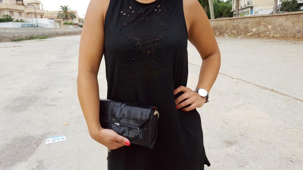 little black dress met kant stylen