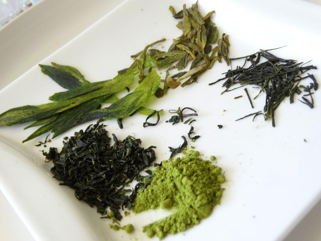 verschillende soorten groene thee