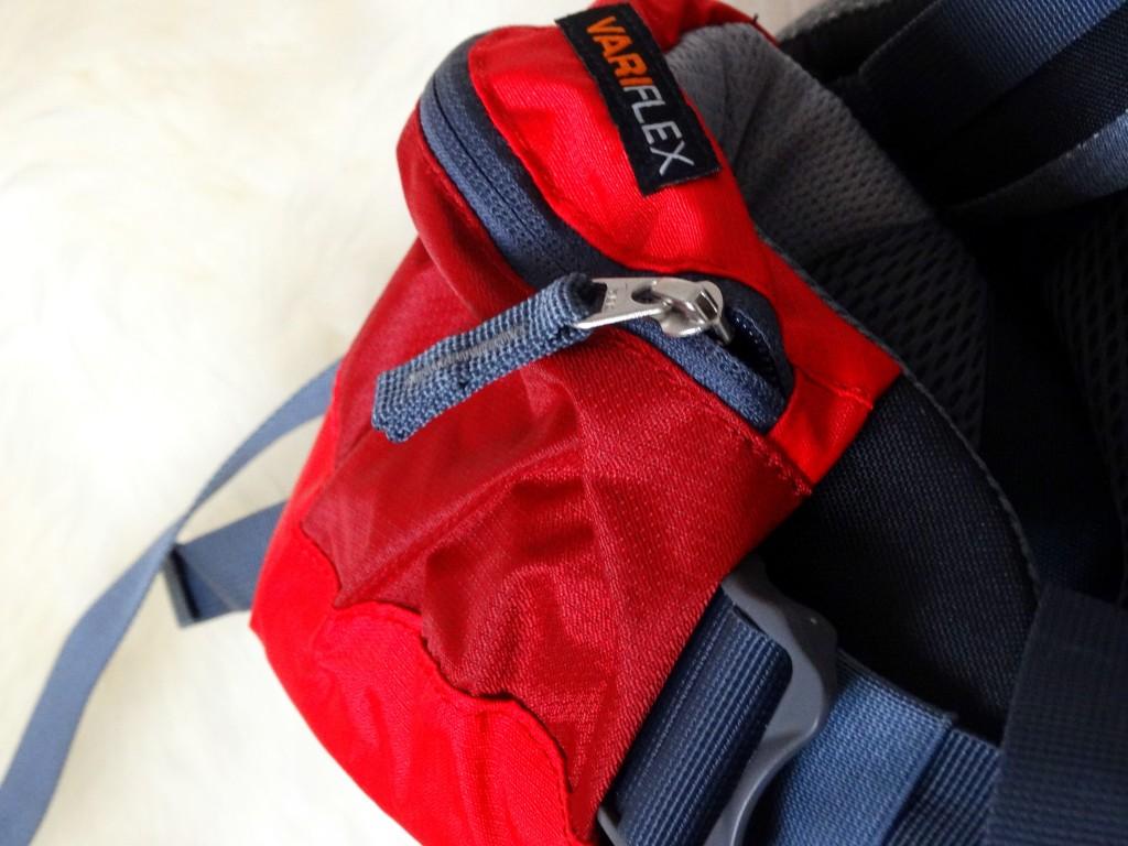 zak op heubpand op de deuter backpack