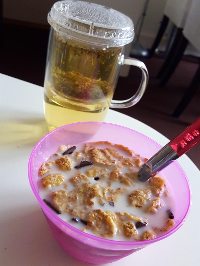 Ontbijt cornflakes