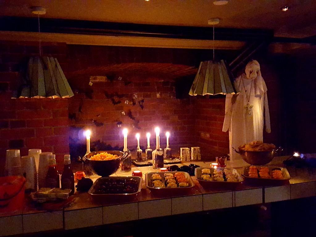 halloween eet tafel