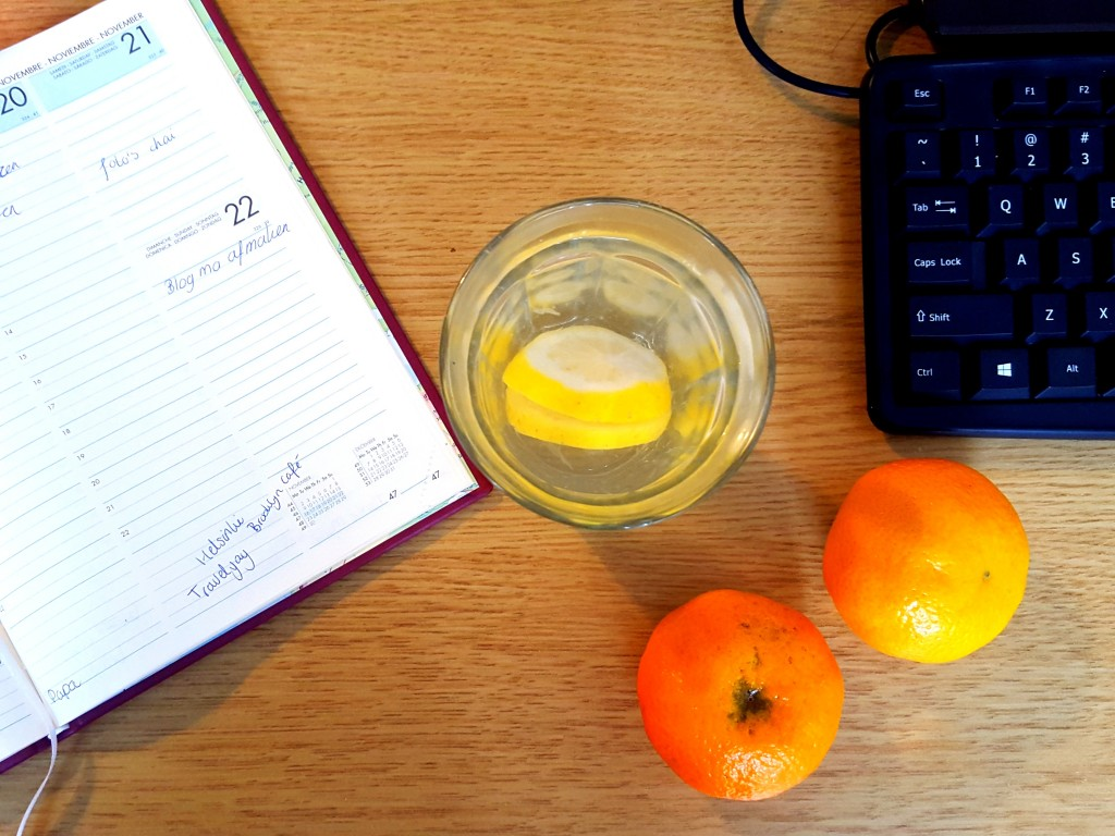 mandarijn tussendoortje citroenwater