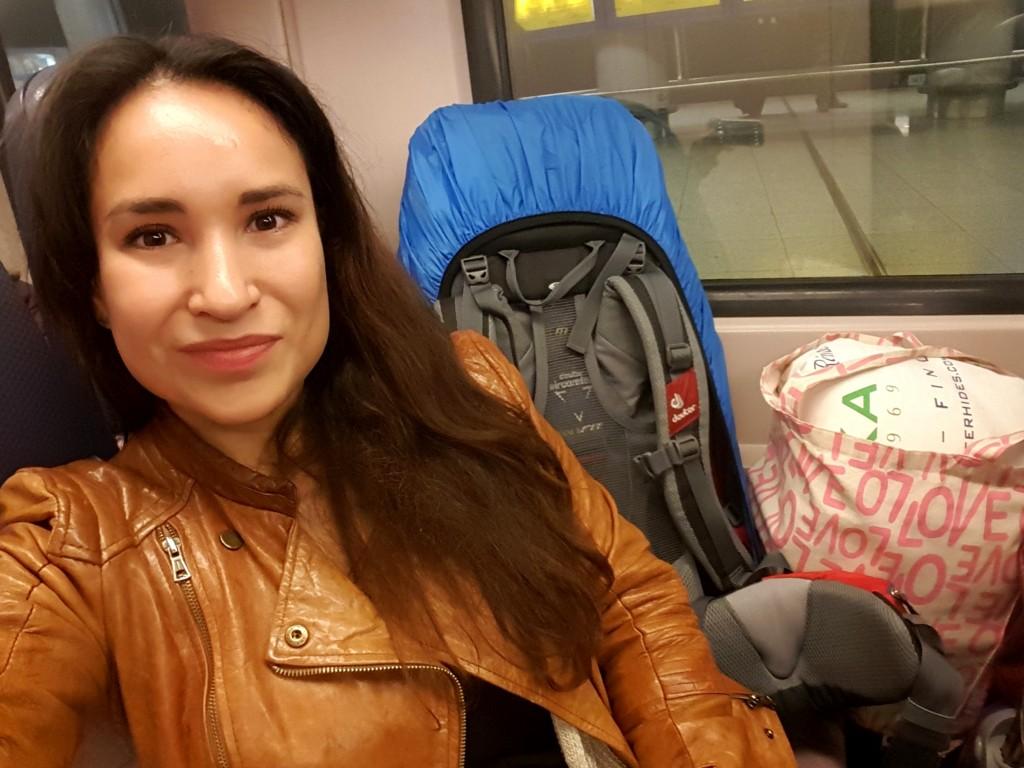 trein op vakantie