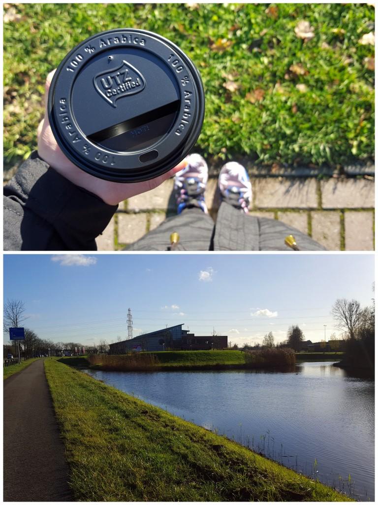 wandelen koffie genieten