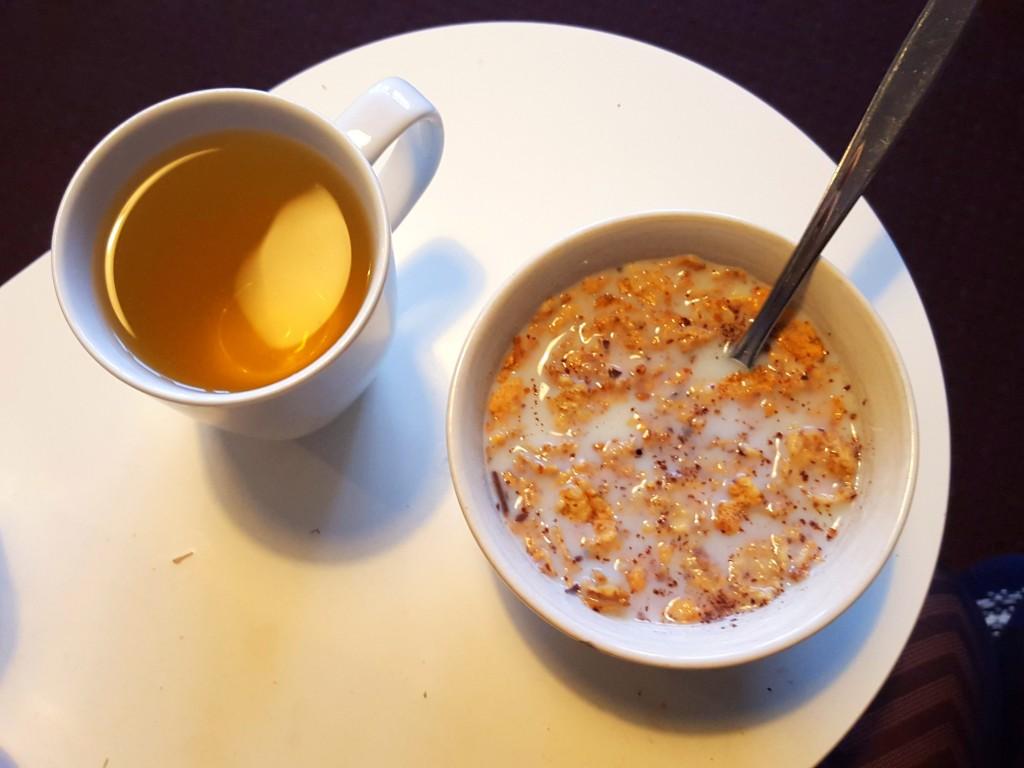 Cornflakes en thee
