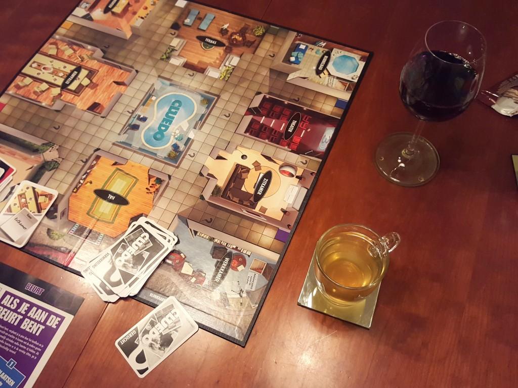 cluedo en wijn