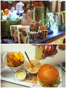 Wonen & Co beurs en daarna hamburger eten bij Wereldburgers
