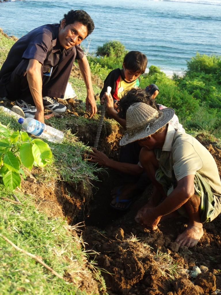 stenen zoeken tanjung aan lombok
