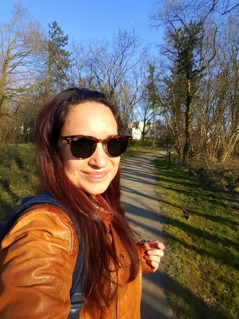 wandelen in de zon