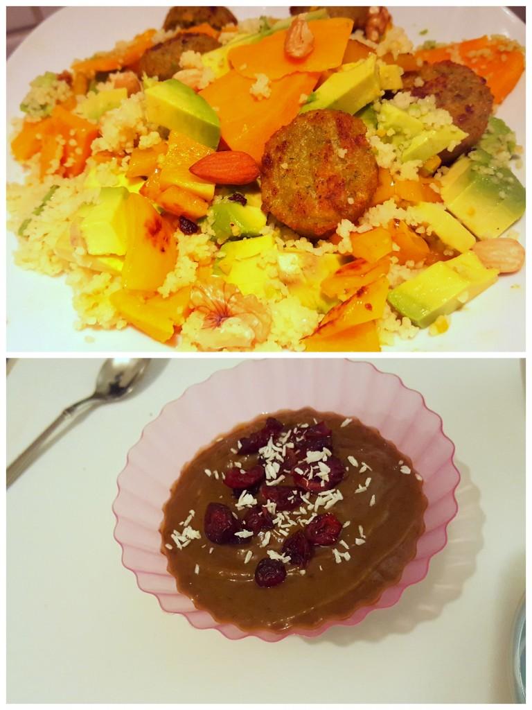 zoete aardappel couscous chocolademousse