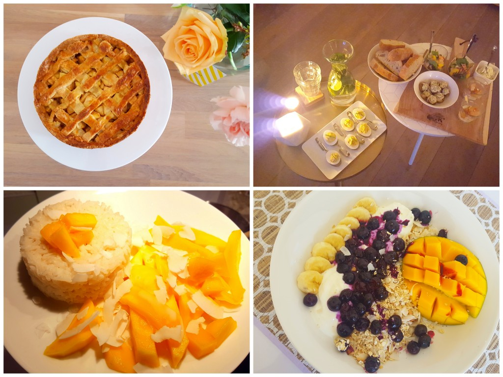 appeltaart sticky rice mango food