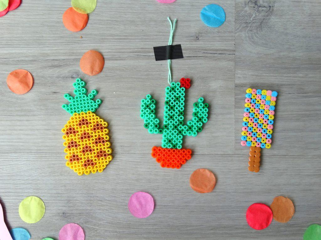 kralen strijken ananas, cactus en ijslolly