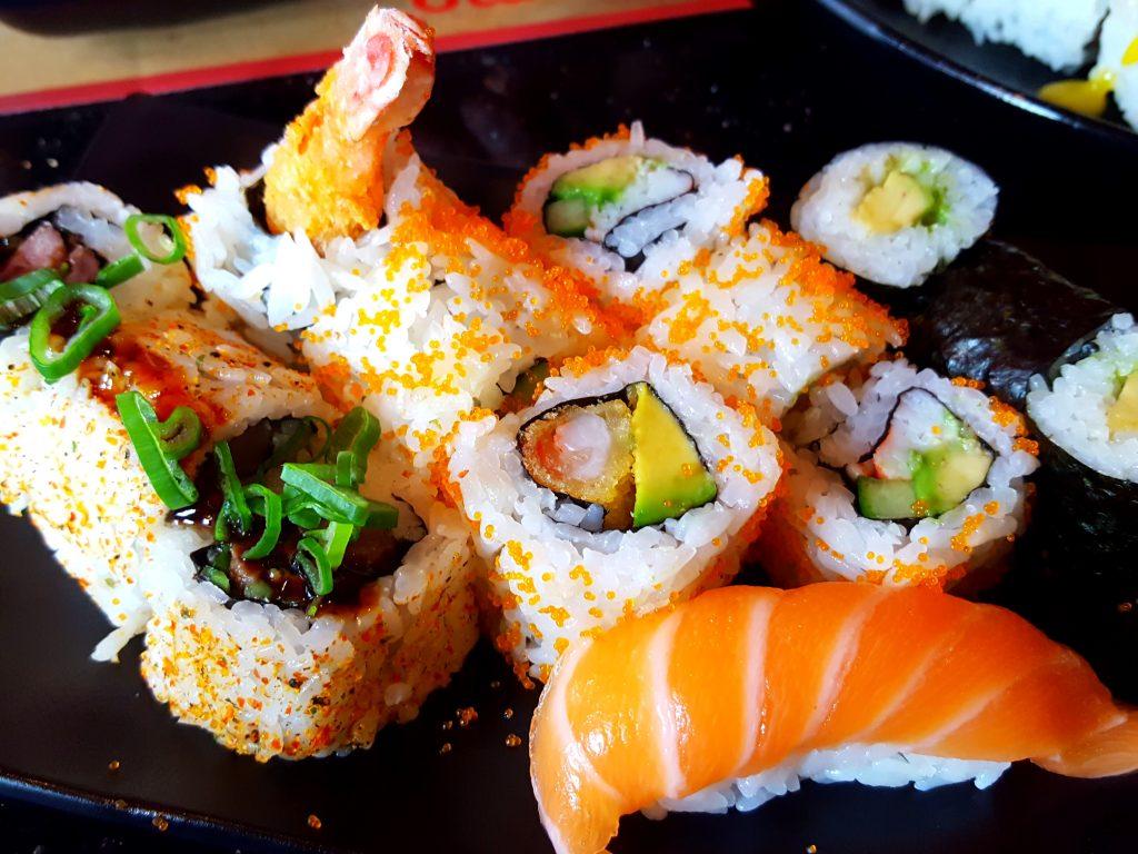 sushi sumo garnalen zalm
