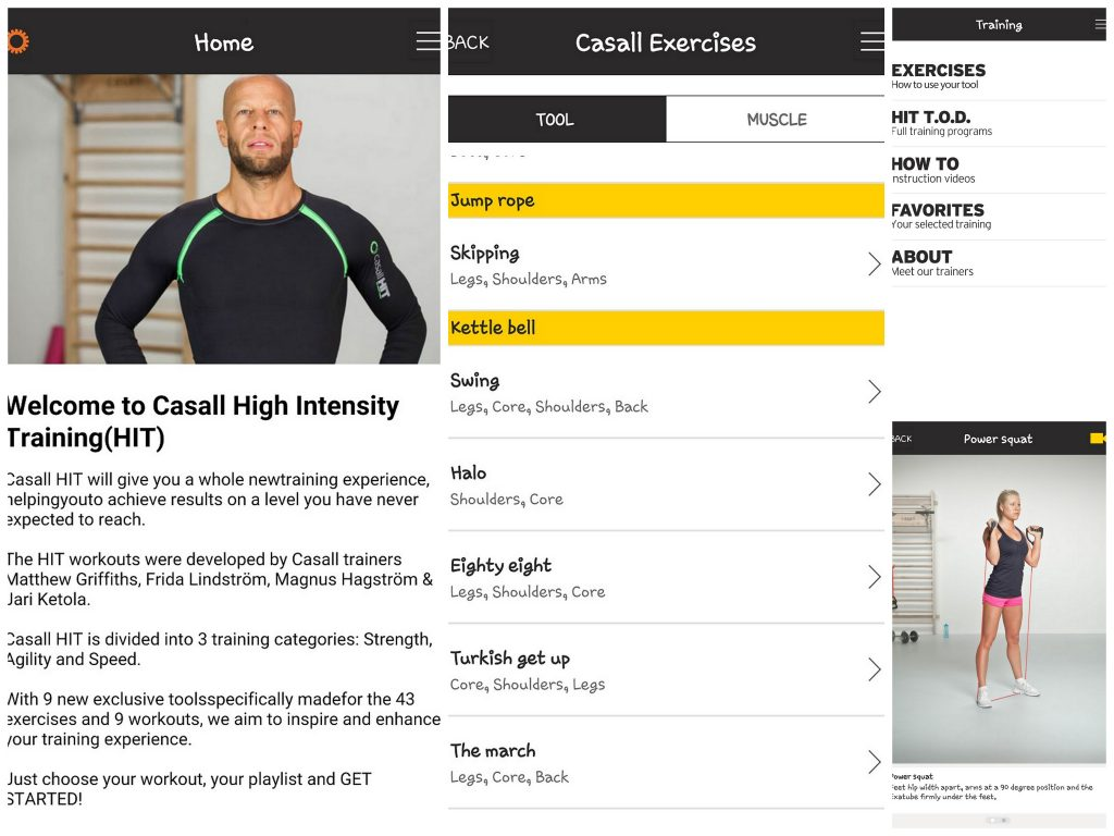 Casall app workout