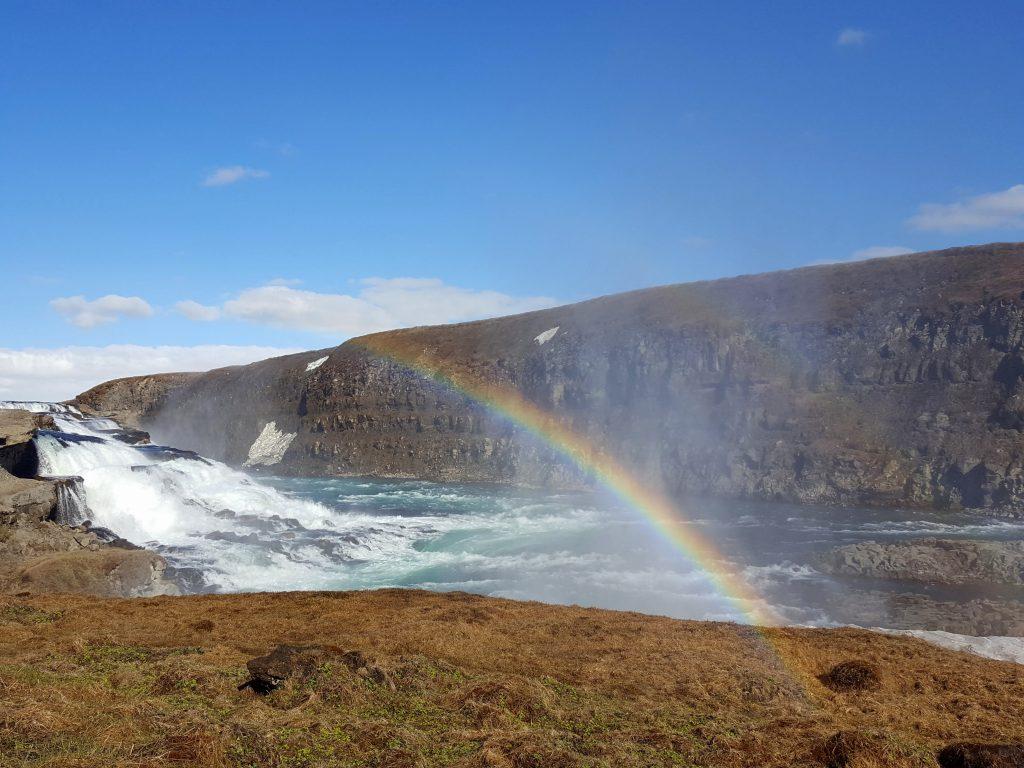golden circle ijsland gullfoss regenboog