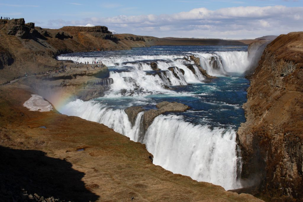 gullfoss golden circle ijsland