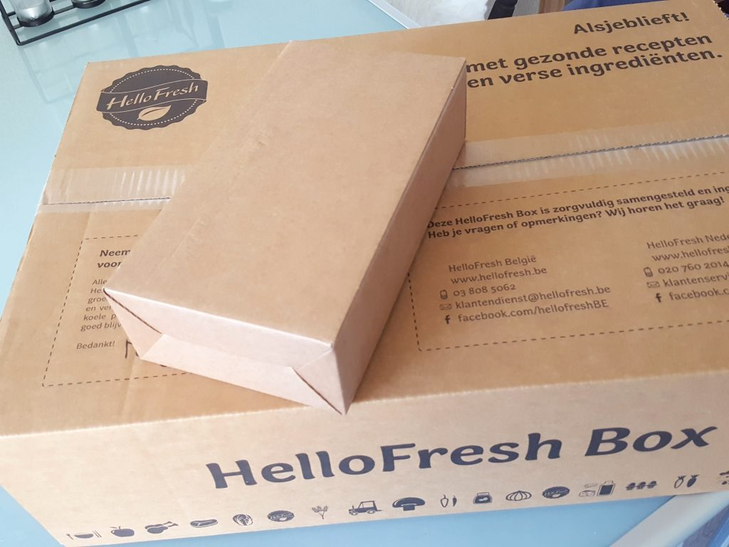 hello fresh box met wijnbox