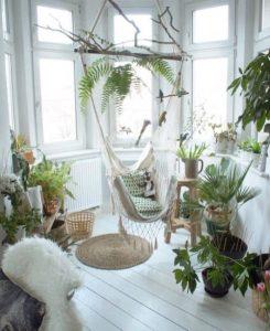 hangmat in huis indoor tuin