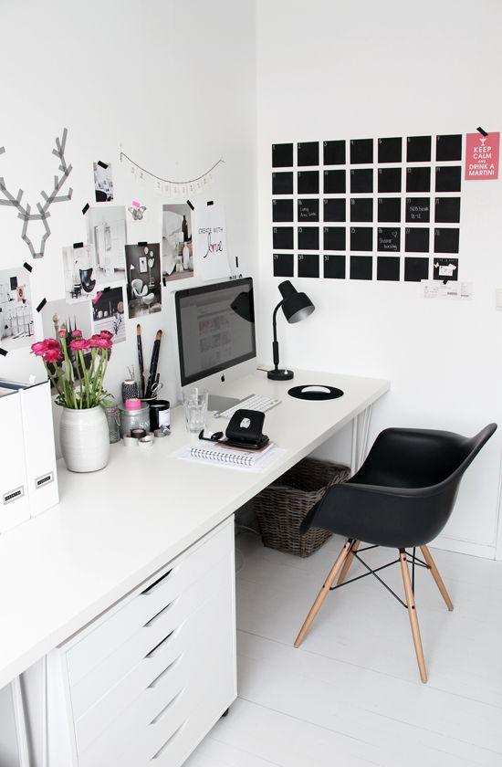 Verwonderend werkkamer-inspiratie-groot-bureau - All Lovely Things KK-48