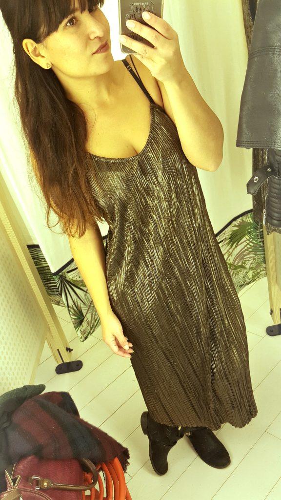metallic jurk Pull & Bear