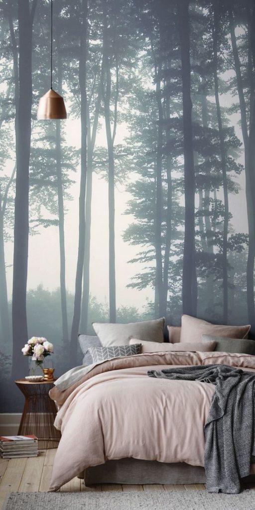 fotobehang slaapkamer inrichten
