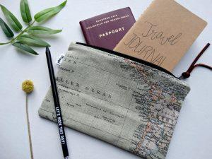 travel gadget handgemaakte etui wereldkaart