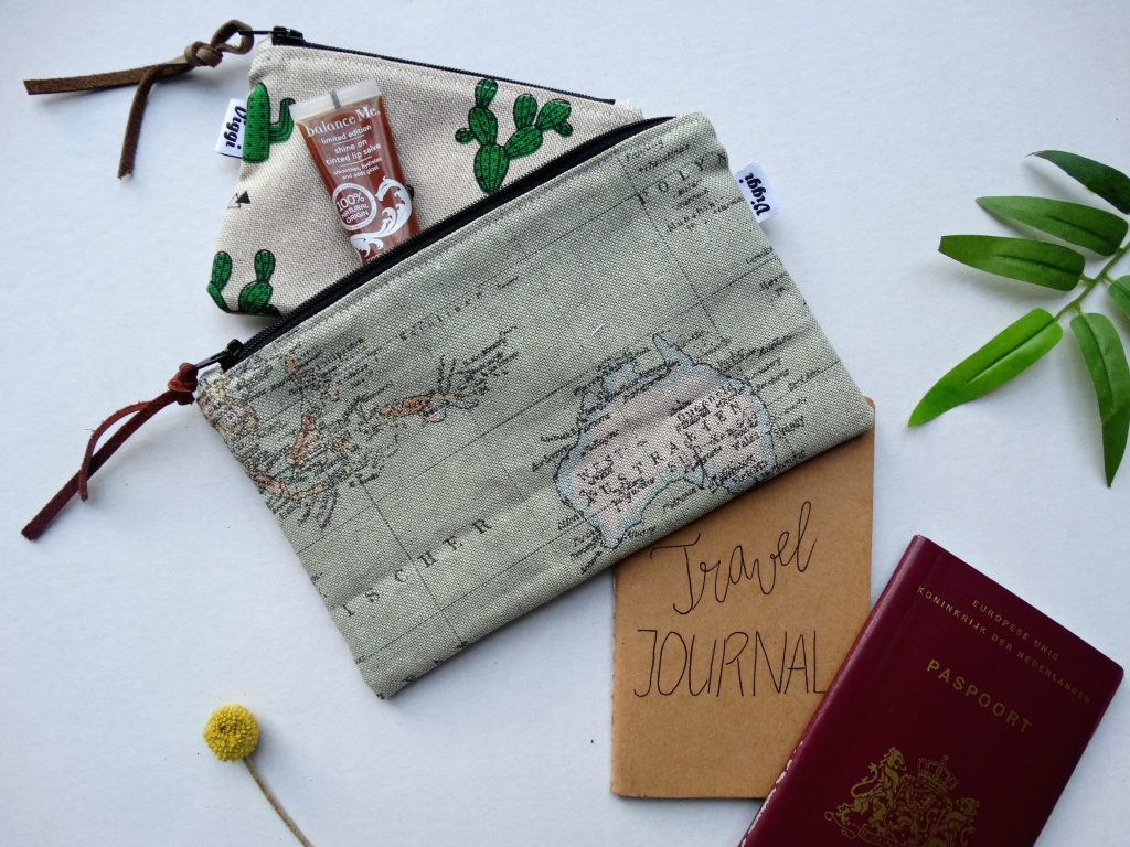 wereldkaart tas winactie viggi handmade