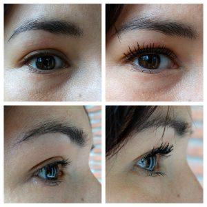 voor en na foto s review mascara voor gevoelige ogen