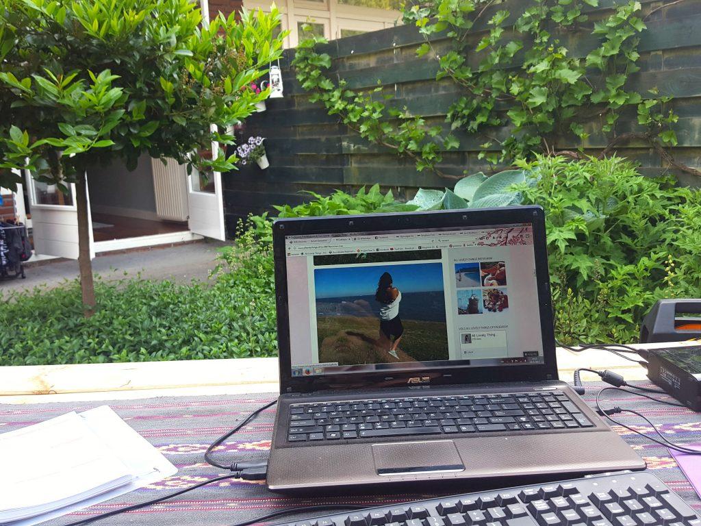 bloggen volg je dromen internet op vakantie