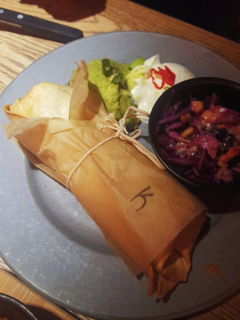 burrito met kip popocatepetl